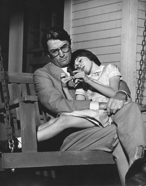 Atticus with his daughter, Scout