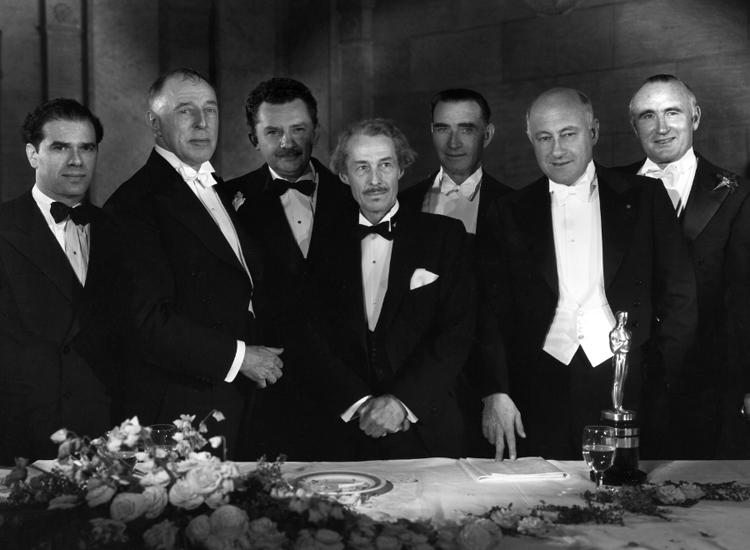 Frank Capra, D.W. Griffith, Jean Hersholt, Henry B. Walthall, Frank Lloyd, Cecil B. DeMille and Donald Crisp