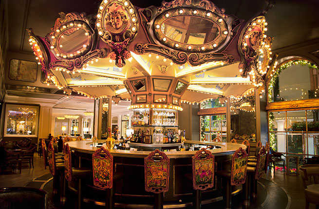 The eye-popping Carousel Bar at the Hotel Monteleone