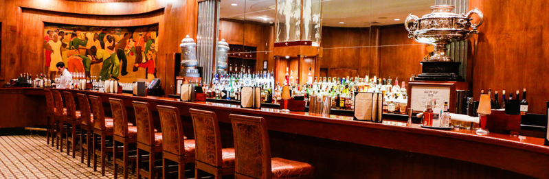 "The Roosevelt's ""oh-so-chic"" Sazarac Bar"