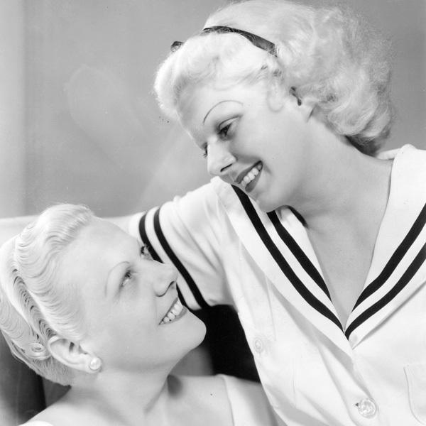 Harlean Carpenter with her mother: Jean Harlow.