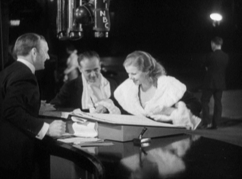 """Harlow and soon-to-be husband Paul Bern """"sign in"""" at the GRAND HOTEL premiere, 1932. Photo courtesy Lisa Burks."""