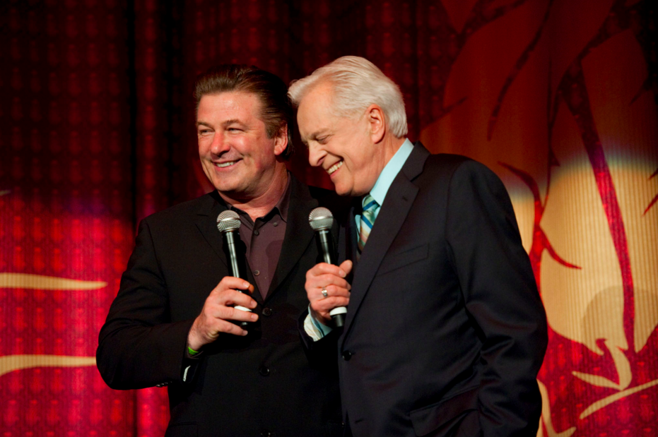 Alec Baldwin and Robert Osborne, inaugural night of the TCM Classic Film Festival, 2010.