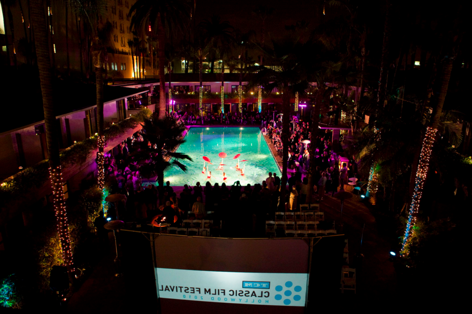 The Roosevelt Hotel pool, opening night of the inaugural TCM Classic Film Festival, April 2010.