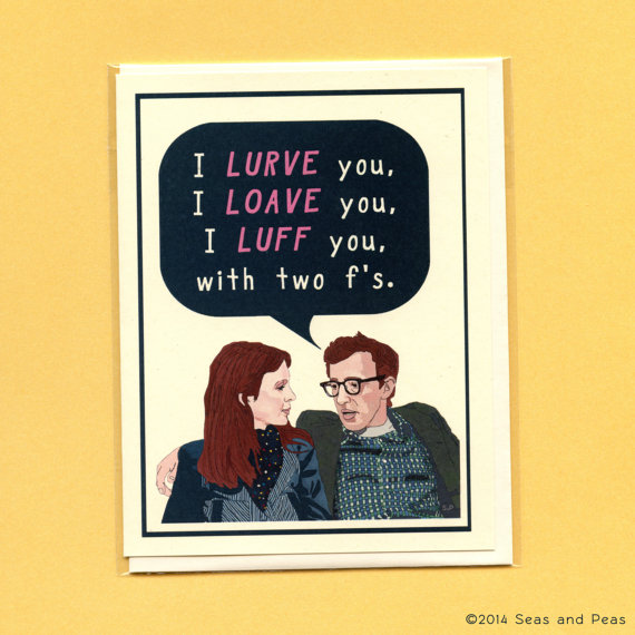 Annie Hall Valentine's Day Card