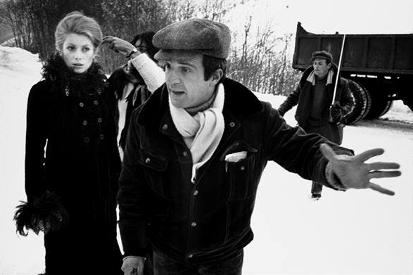Francois Truffaut directing Catherine Denueve on the set of MISSISSIPPI MERMAID.