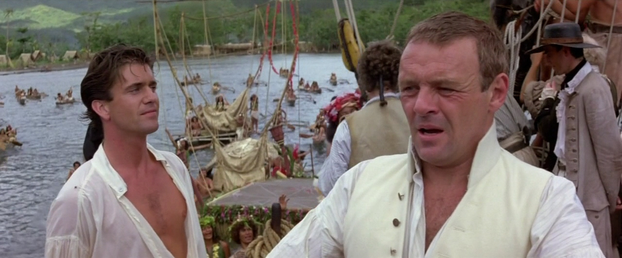 Mel Gibson and Anthony Hopkins in the 1984 The Bounty