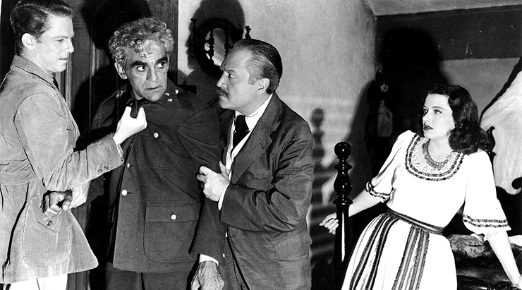 Karloff in ISLE OF THE DEAD.